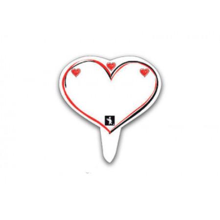 Πινακίδα PS Καρφί Καρδούλες 9,5x7εκ