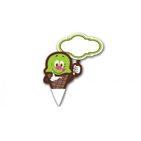 Πινακίδα PS Καρφί Παγωτούλης Πράσινο