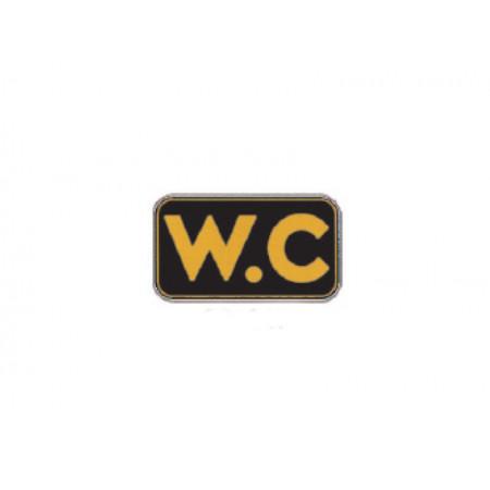 Πινακίδα ABS WC Μαύρη Ορθογώνια