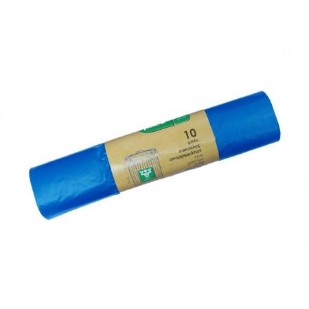 10 Σακούλες Απορριμάτων 52Χ75cm Strong Ρολό Μπλε