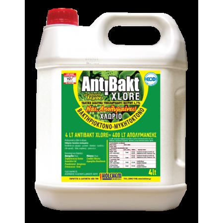 Holchem Antibakt 4lt - Χλωρίνη Απολυμαντική Ultra XL