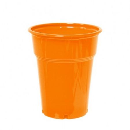 Πλαστικό Ποτήρι PP 300ml Πορτοκαλί - 50τεμ