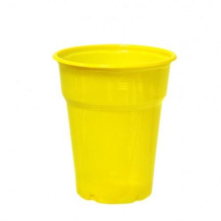 Πλαστικό Ποτήρι PP 300ml Κίτρινο - 50τεμ