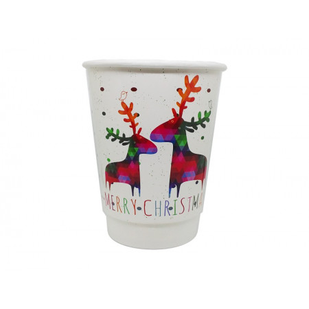Paper Cup Double Wall Deers 14oz - 25pcs