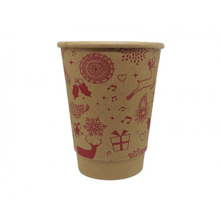 Paper Cup Double Wall Merry Christmas tree 14oz - 25pcs...