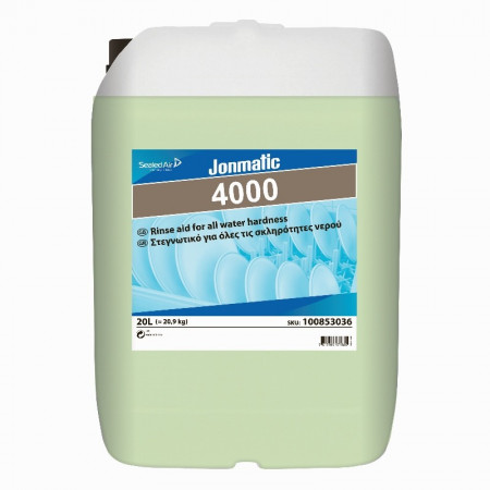 Jonmatic 4000 - Στεγνωτικό Πλυντηρίου Πιάτων  Για Χρήση Σε Όλες Τις Σκληρότητες Νερού