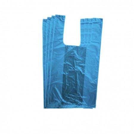 Πλαστικές Σακούλες Α` 50εκ / Τσάντες Φανελάκι Μπλε 1κιλό