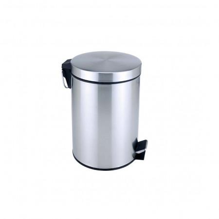 Κάδος Μπάνιου Με Πεντάλ 5lt Inox