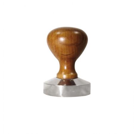 Tamper Πατητήρι INOX με ξύλινη λαβή 53mm