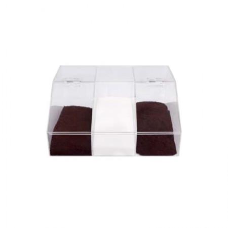 Καφεκούτι Ακρυλικό Τριπλό Διάφανο 24x16,5x12,5cm