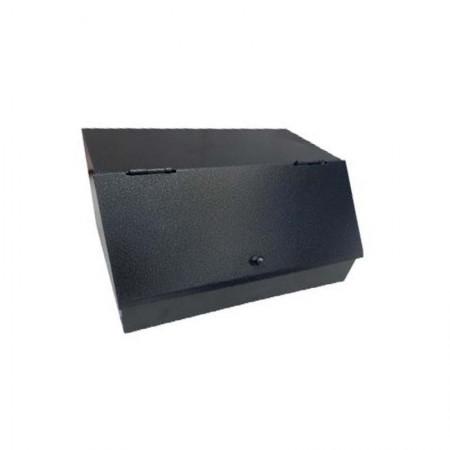 Καφεκούτι Σφυρήλατο Τριπλό 33x25x17hcm Μαύρο