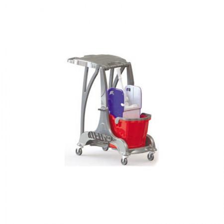 Καρότσι Καθαρισμού Με Έναν 25Lit Κουβά, Στίφτη Και Σακούλα Απορριμμάτων