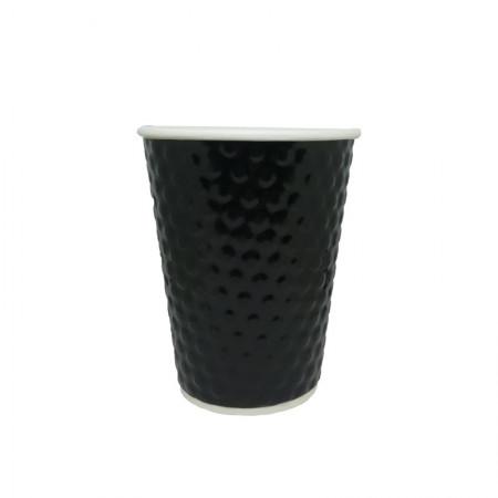Χάρτινο Ποτήρι Embossed Μαύρο 14oz - 25τεμ