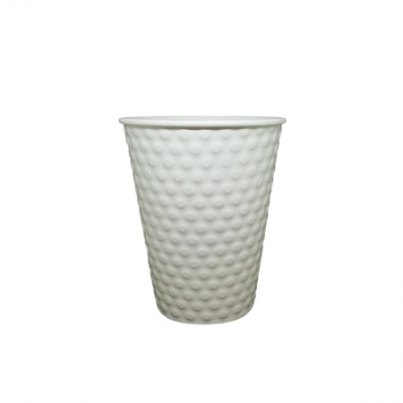 Paper Cup Embossed White 14oz - 25pcs