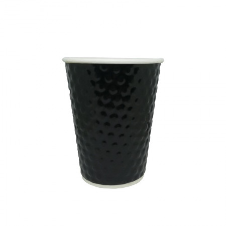 Χάρτινο Ποτήρι Embossed Μαύρο 8oz - 25τεμ