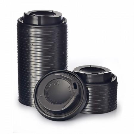 Καπάκι Πιπίλα Μαύρο 8oz - 12oz  - 100τεμ
